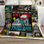 Proud Trucker Sofa Throw Blanket NH105