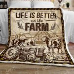 Farm Life Sofa Throw Blanket NP120