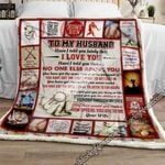 My Husband, I Love You Baseball Sofa Throw Blanket