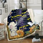 To My Granddaughter, Elephant Sofa Throw Blanket NP376