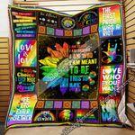 LGBT Pride. This Is Me, I Am Brave... Quilt Blanket