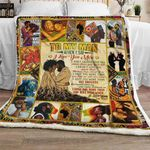 To My Man, I Love You The Most Sofa Throw Blanket