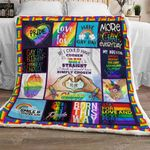 Gay Pride Sofa Throw Blanket