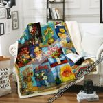 Flowers Of Van Gogh Sofa Throw Blanket