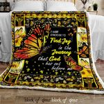 Find God In A Butterfly Sofa Throw Blanket DK474