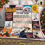 To My Son, Wrestling Sofa Throw Blanket NH240