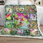 Hummingbird Garden Sofa Throw Blanket