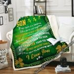 To My Amazing Son, Irish Sofa Throw Blanket