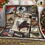 Without The Piano Life Would Bb Sofa Throw Blanket