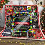 To My Son, Autism Christmas Sofa Throw Blanket