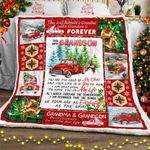 For My Grandson, Red Truck Christmas Sofa Throw Blanket