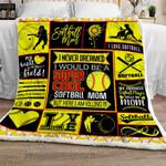 Proud Softball Mom Sofa Throw Blanket NH103