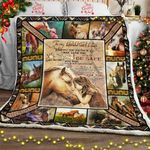 Daughter, I Pray You Will Always Be Safe - Horse Sofa Throw Blanket