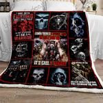 The Throne For Me Skull King Sofa Throw Blanket P517