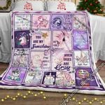 My Sunshine Unicorn, Love, Mom Sofa Throw Blanket