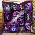 Skull Girl. I Am Brave, I Am Bruised...This Is Me Quilt Blanket