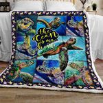All things I need is A Turtle Sofa Throw Blanket TTL71