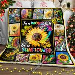 In A World Full Of Roses, Be A Sunflower - Hippie Sofa Throw Blanket