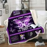 Fibromyalgia Awareness Sofa Throw Blanket Th583