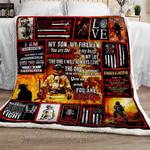 My Son, My Fireman Sofa Throw Blanket