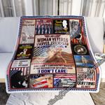 I Am A Woman Veteran  Sofa Throw Blanket MLH751