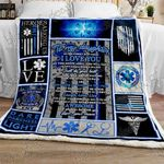 Love My EMT Daughter Sofa Throw Blanket