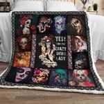 Crazy Skull Lady Sofa Throw Blanket TH716