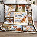 Angels Don't Always Have Wings, Sometimes They Have Paws Sofa Throw Blanket NH9