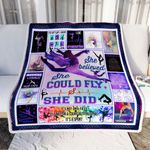 She Believed She Could Fly Gymnastics Sofa Throw Blanket