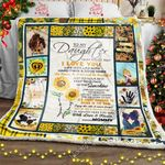 To My Daughter From Mommy, Sunflower Sofa Throw Blanket