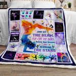 Reach For The Stars Gymnastics Sofa Throw Blanket