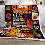 Female Basketball Sofa Throw Blanket TTL218