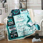 Ovarian Cancer Awareness Sofa Throw Blanket Th584