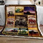 Tractor On The Farm Sofa Throw Blanket TT93