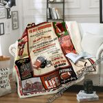To My Grandson, American Football Sofa Throw Blanket