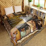 Chihuahua. It's True. When I Come To You In Dreams, I'm Really There  Quilt Blanket