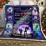 To My Daughter, Love Mom - Fairy Sofa Throw Blanket