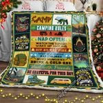 Camping Rules  Sofa Throw Blanket