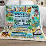 Beach Rules Sofa Throw Blanket