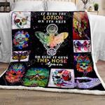 Skull Butterfly Sofa Throw Blanket