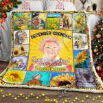 December Grandma, Sunshine Mixed With A Little Hurricane Sofa Throw Blanket NH235
