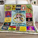 Hippie Girl Sofa Throw Blanket NH36