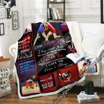 To My Daughter, Love Mom, Wrestling Sofa Throw Blanket