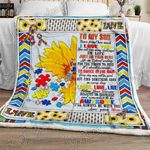 To My Son, Mom Loves You Autism Sofa Throw Blanket