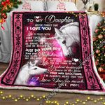 To My Daughter, Just Do Your Best � Unicorn Sofa Throw Blanket