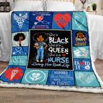 She's Black, She's A Queen, She's A Nurse Sofa Throw Blanket NH60