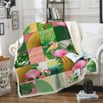 Flamingo Sofa Throw Blanket Th557
