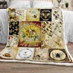The Flower Blossoms And The Bee Comes Sofa Throw Blanket