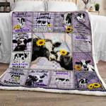Holstein Cattle Sofa Throw Blanket P568