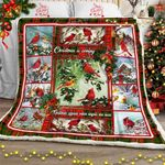 Christmas Cardinals Bird Sofa Throw Blanket CTN62